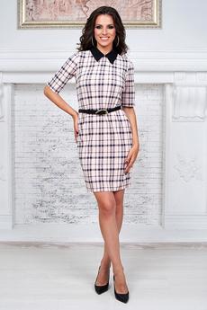 Платье с воротником в школьном стиле Angela Ricci со скидкой