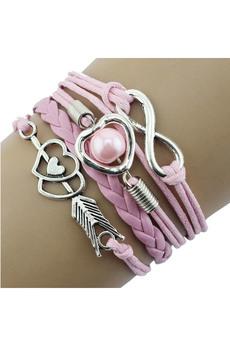 Розовый браслет со знаком бесконечности Kokette со скидкой